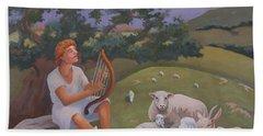 Young David As A Shepherd Bath Towel