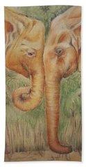 Young Elephants Hand Towel
