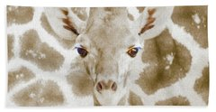 Young Giraffe Hand Towel