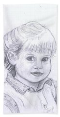 Young Girl Hand Towel by Francine Heykoop