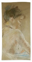 Young Girl With Naked Shoulders Bath Towel