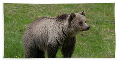 Young Grizzly Bath Towel