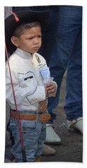 Young Horseman Hand Towel by Jim Walls PhotoArtist