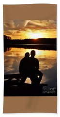 Young Love And Sunsets Hand Towel