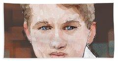 Young Man Bath Towel by Debra Baldwin