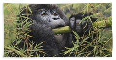 Young Mountain Gorilla Hand Towel