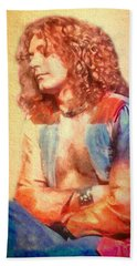 Young Robert Plant Bath Towel