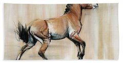 Young Stallion Hand Towel
