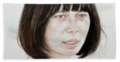 Young Vietnamese Woman Bath Towel by Jim Fitzpatrick