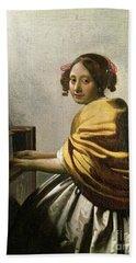 Young Woman At A Virginal Hand Towel
