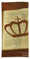 Hand Towel featuring the painting Your God Reigns by Jennifer Watson