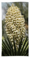 Bath Towel featuring the photograph Yucca Flowers In Bloom  by Saija Lehtonen