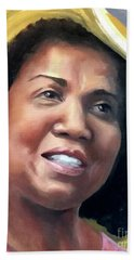 Hand Towel featuring the painting Yvonne by Diane Daigle
