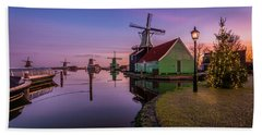 Zaanse Schans Holiday  Bath Towel