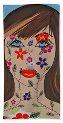 Zahir - Contemporary Woman Art Hand Towel
