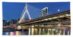 Zakim Bridge And Charles River Bath Towel