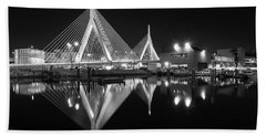 Zakim Bridge From Lovejoy Wharf Hand Towel
