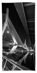 Zakim Bridge From Under The Leverett Connector Bridge Hand Towel