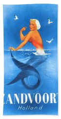 Zandvoort Holland Mermaid Travel Poster Hand Towel