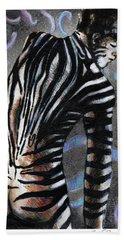Zebra Boy At Dawn Bath Towel