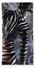 Zebra Boy At Dawn Hand Towel