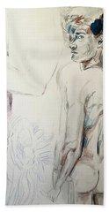 Zebra Boy Sketch 2017 Bath Towel