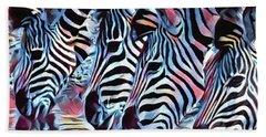 Zebra Dazzle Hand Towel