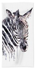 Zebra Head Hand Towel