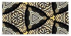 Zebra Iv Hand Towel by Maria Watt