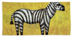 Zebra Hand Towel by Kelly Jade King