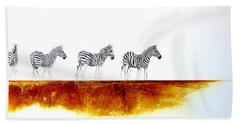 Zebra Landscape - Original Artwork Bath Towel