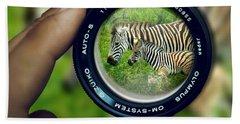 Zebra Lens Hand Towel