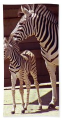 Zebra Mom And Baby Hand Towel