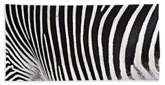 Zebra Pattern Bath Towel