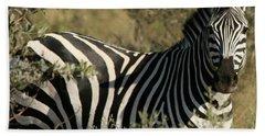Zebra Portrait Bath Towel