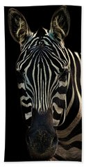 Zebra Portrait Bath Towel