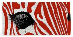 Zebra Red Hand Towel