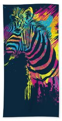 Zebra Splatters Bath Towel