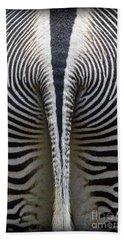 Hand Towel featuring the photograph Zebra Stripes by Heiko Koehrer-Wagner