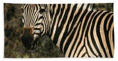 Zebra Watching Sq Bath Towel