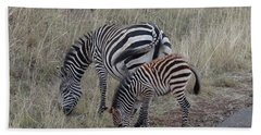 Zebras In Kenya 1 Bath Towel