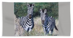 Zebras In South Africa Hand Towel