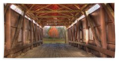 Sycamore Park Covered Bridge Bath Towel