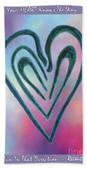 Zen Heart Labyrinth Hand Towel