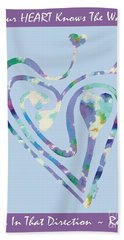 Zen Heart Labyrinth Pastel Painting Bath Towel