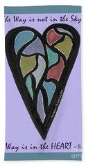 Zen Heart Map Hand Towel