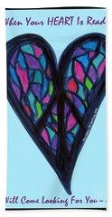 Zen Heart Peace Puzzle Hand Towel