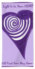 Zen Heart Vortexy  Bath Towel