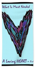 Zen Hearts In Betweens Bath Towel