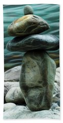 Hand Towel featuring the photograph Zen Rocks by Yulia Kazansky